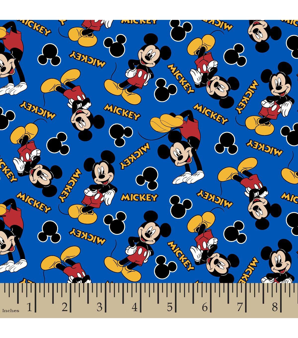 Disney Mickey Mouse Donald Minnie Couture 100/% Cotton Craft Fabric
