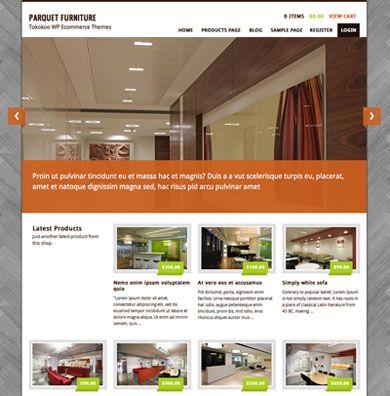 Parquet Furniture Online Store Ecommerce Premium Wordpress Theme ...