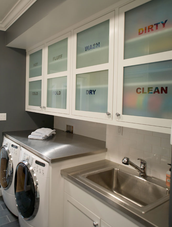 Laundry Mud Rooms Gray Walls Paint Color Ivory Cream Cabinets