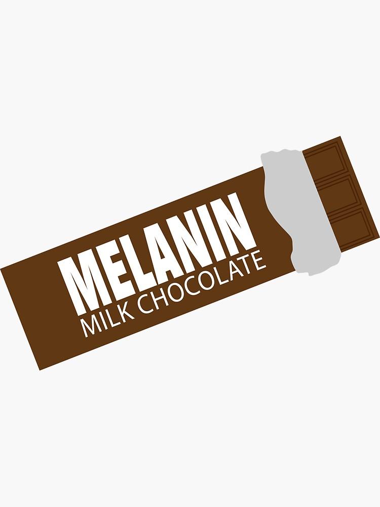 Melanin Milk Chocolate Candy Bar Sticker By Blackartmatters Black Girl Magic Art Black Artwork Black Women Art