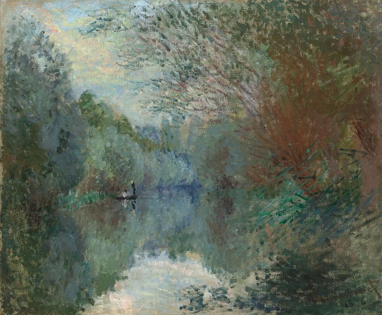 Claude Monet (French Impressionist painter, 1840–1926) Saules au Bord de l'Yerres, 1876. This work is offered in the upcoming Impressionist & Modern Art Evening Sale on February 28th 2017 at Christie's London. Estimate: £1,500,000-2,500,000.