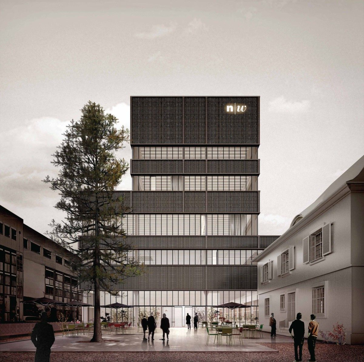 Rendering Architektur Studium E2a . Fhnw. Basel (1) | 014_business Offices | Rendering