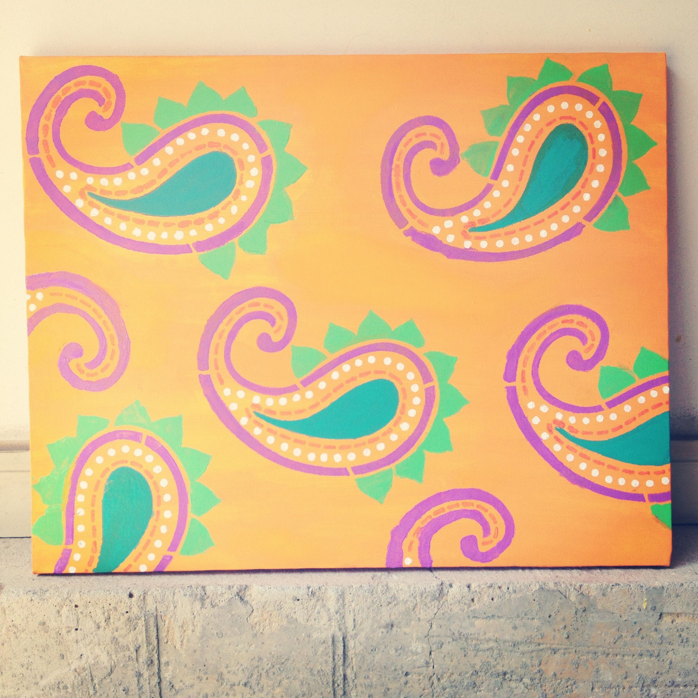Diy Paisley Canvas
