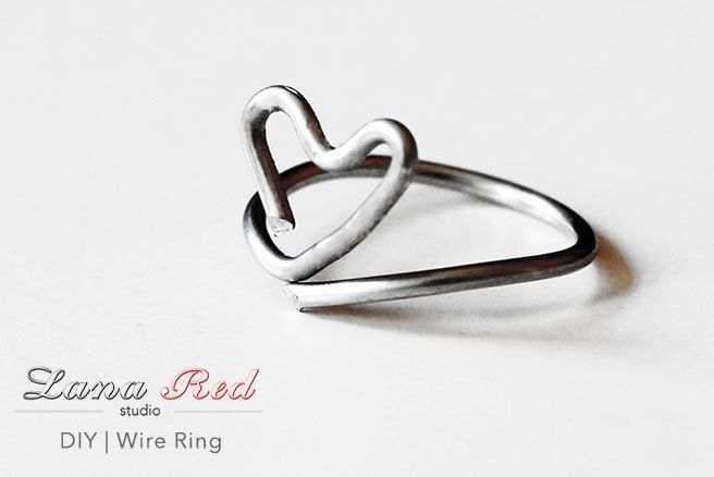 In need of a cute ring, but don't have much time for it? Not to worry, because this is the easiest and most affordable way to diy your own wire heart ring!