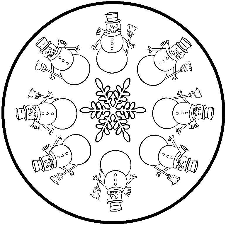 COSILLAS DE INFANTIL: Mandalas de Invierno