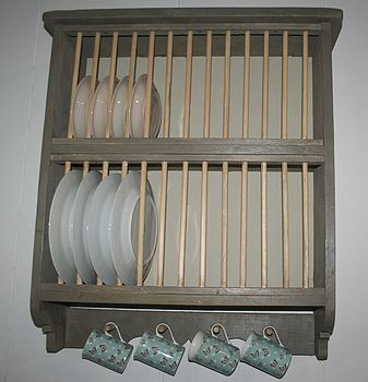 handmade pine plate rack by hafod farm | notonthehighstreet.com & handmade pine plate rack by hafod farm | notonthehighstreet.com ...