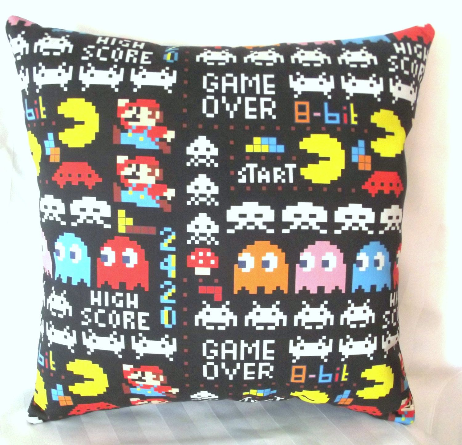 Retro pillow home décor gamers accessory s video game throw
