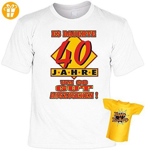 Geschenk Set zum 40. Geburtstag! T-Shirt - Es dauerte 40 Jahre um