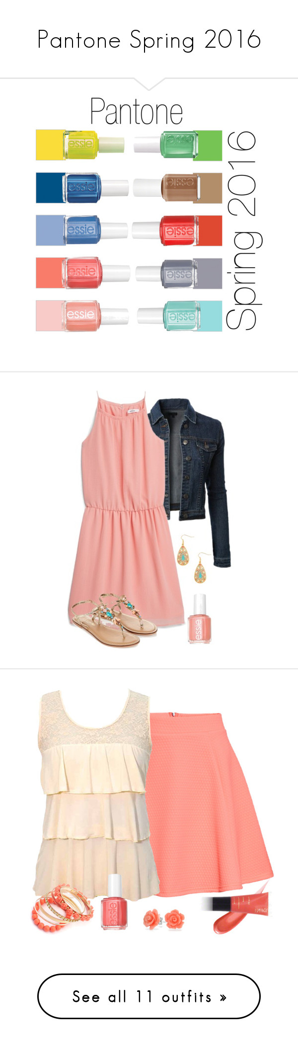 Pantone Spring 2016 by mary-grace-see on Polyvore featuring polyvore, fashion, style, Essie, clothing, pantone, spring2016, LE3NO, MANGO, Monsoon, rosequartz, H&M, Ruby Rocks, INIKA, Bling Jewelry, peachecho, Shoshanna, Swarovski, serenity, Amanda Uprichard, Carolee, Blue, snorkel, SnorkelBlue, MaxMara, Marc by Marc Jacobs, INC International Concepts, Nina, buttercup, Christopher Kane, maurices, shell, limpetshell, limpet, Smith & Cult, MICHAEL Michael Kors, Hush Puppies, gray, lilac…