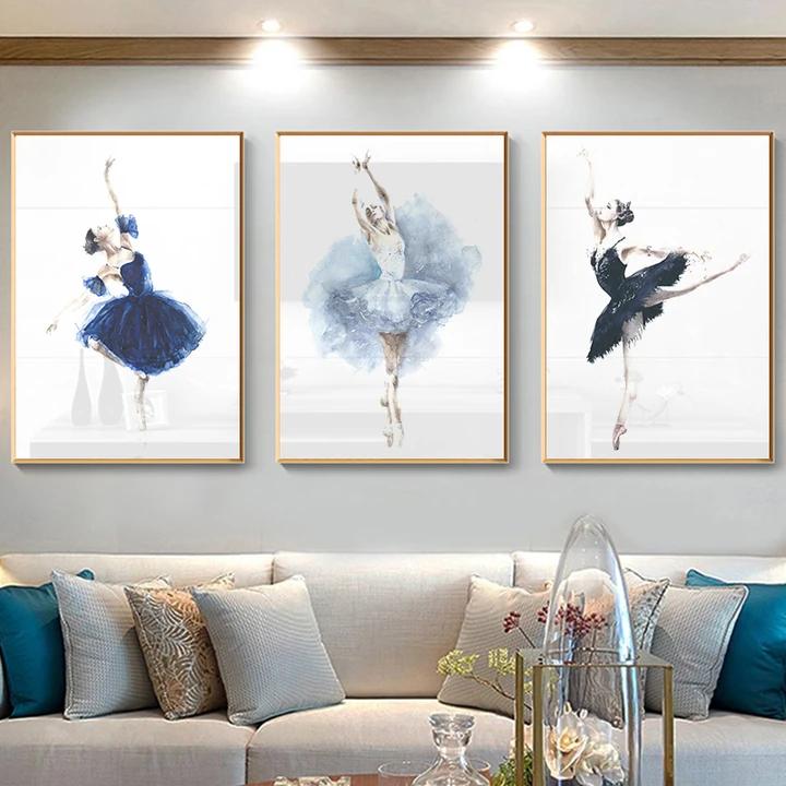 Ballerina Girl Wall Art Canvas Girls Wall Art Wall Canvas Wall Art