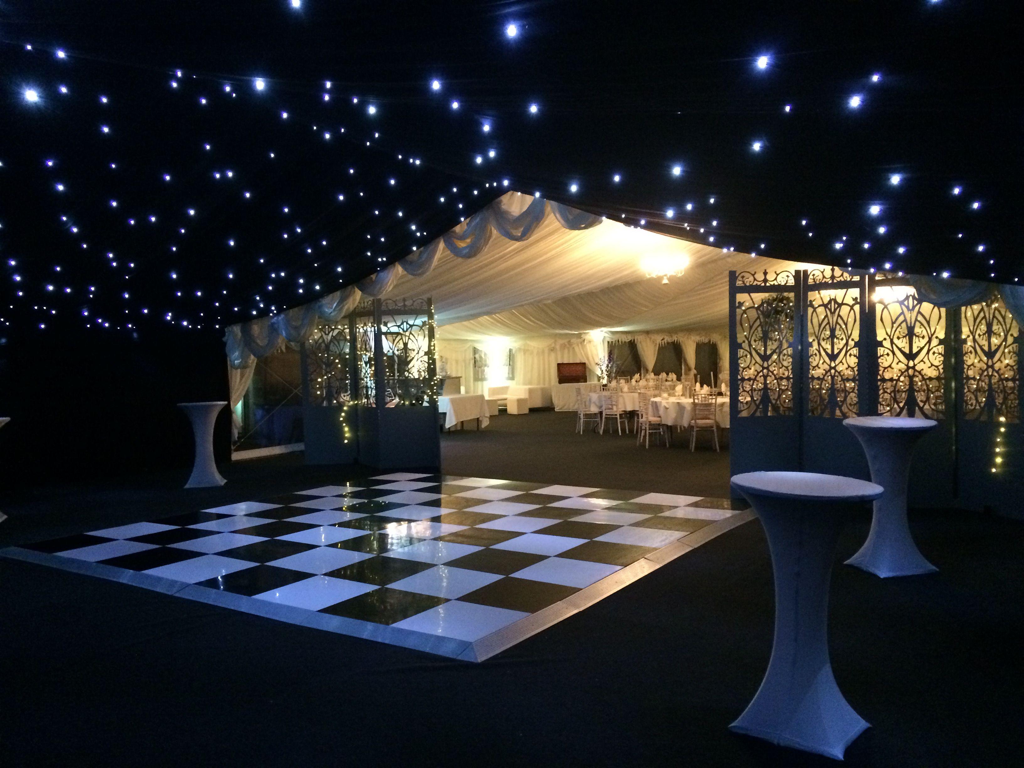 Marque dance floor with star light roof
