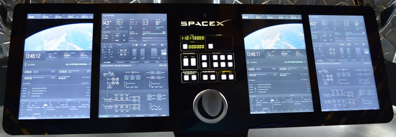 Dragon V2 UI by SpaceX Blog Posts Spacex dragon