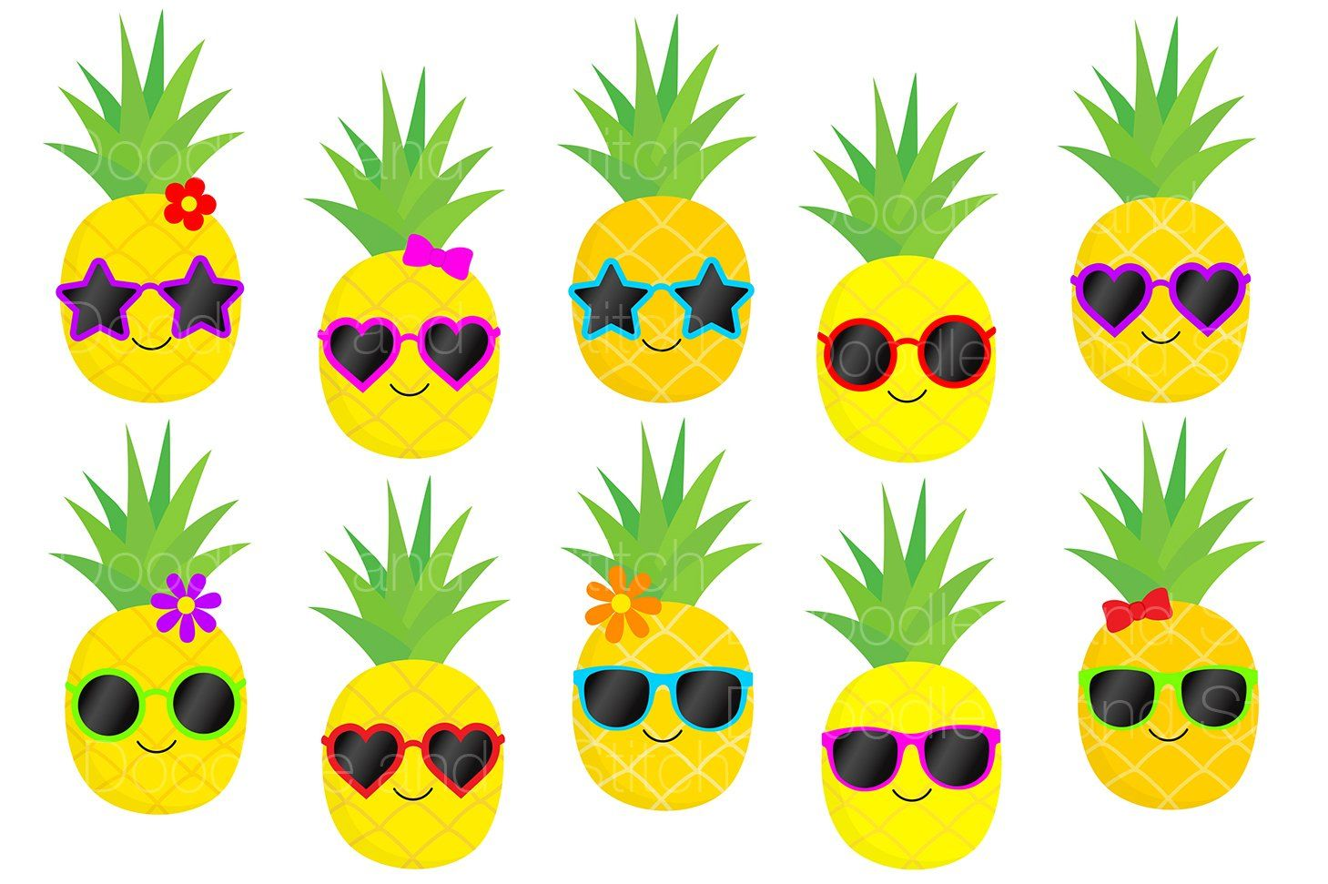 Funky Pineapple Clipart Designs   Pineapple clipart ...