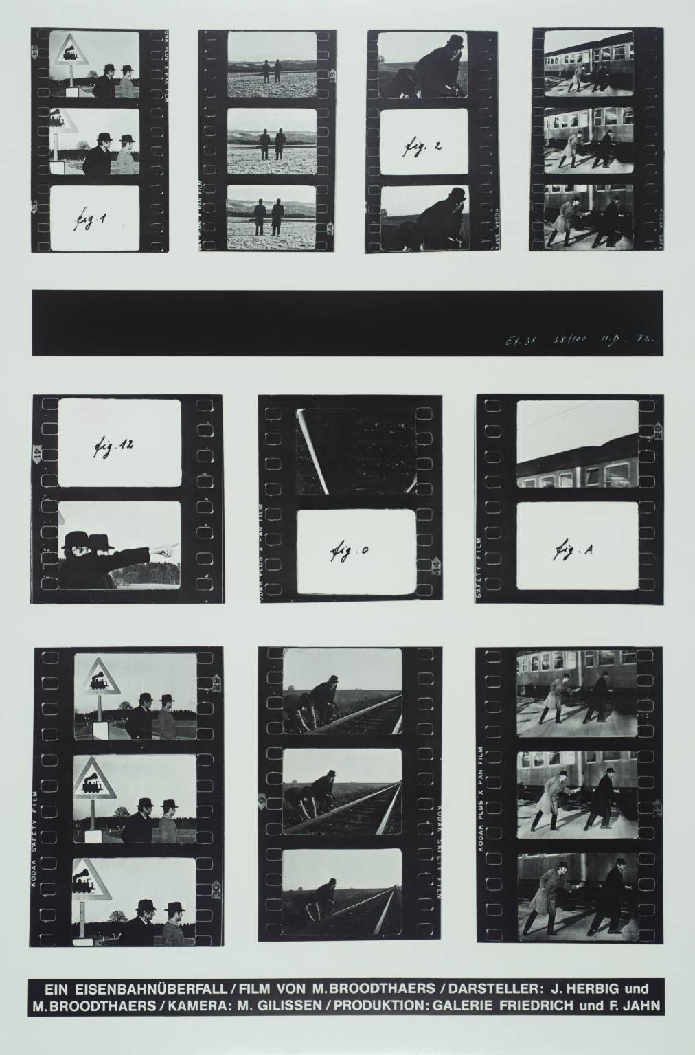 Marcel Broodthaers 'A Railway Robbery', 1972 © DACS, 2014Magritte, who gave him a copy of Mallarmé's Un Coup de Dés. (Magritte's paintings with words, in which there is a contradiction between the painted word and the painted object, were later a crucial influence on him). Started in 1958 to publish articles illustrated with his own photographs. At the end of 1963 decided to become an artist and began to make objects.