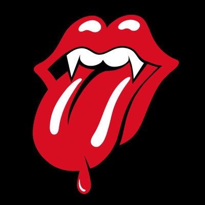 The Rolling Stones Logo With A Vampy Twist Rolling Stones Tattoo