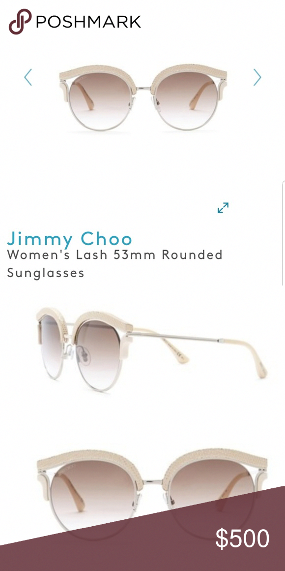 5a4bad376943 Jimmy choo lash rounded sunglasses Measurements 53-19-140mm (eye-bridge