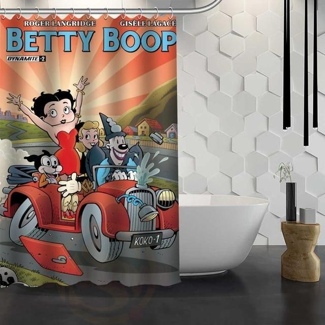 Betty Boop Shower Curtain Shower Curtain Shower Fabric Shower