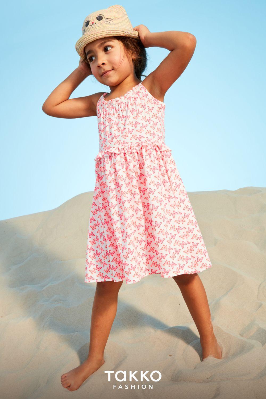 kindermode für den sommer: kleid mit schmetterlingen und
