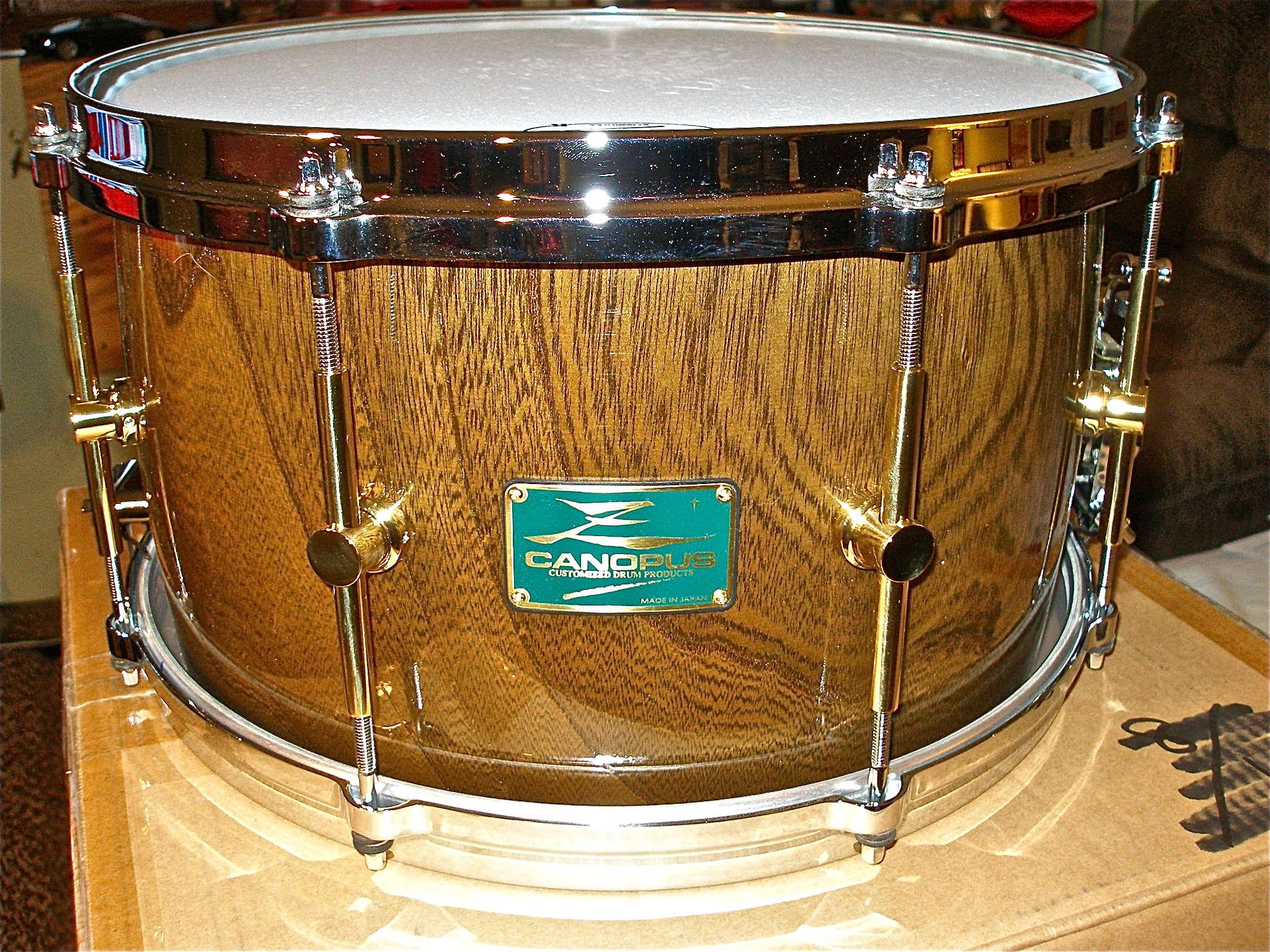 canopus 8x14 zelkova snares my snares in 2019 snare drum drums instruments. Black Bedroom Furniture Sets. Home Design Ideas