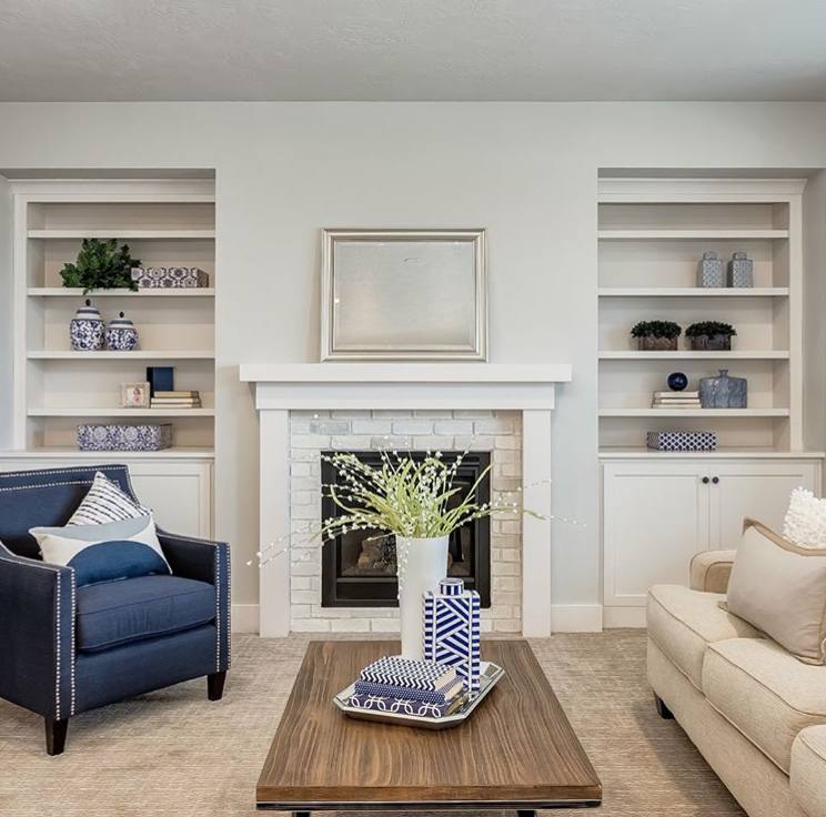 Our Statement Pieces And Accent Chairs Are Sure To Steal The Show This Living Room Was Styled Blue Accent Chairs Living Room Sets #statement #chair #for #living #room