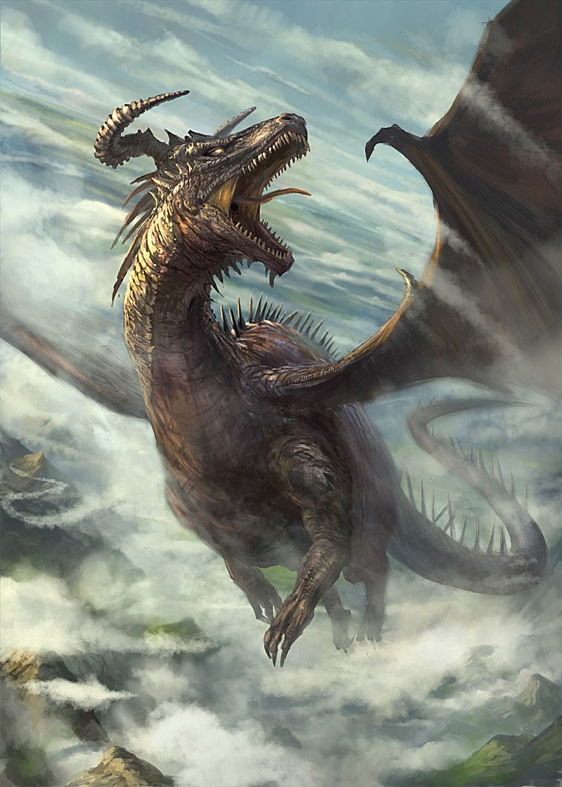 Dragon in flight by gerezon.deviantart.com on @deviantART ...