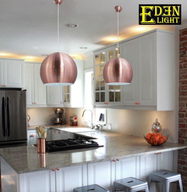 Copper Coloured Pendant Lights For Breakfast Bar Kitchen