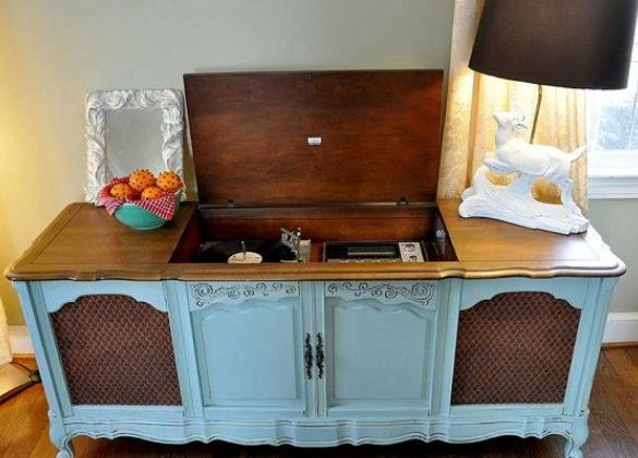 Winner Diy Giveaway Stylish Patina Vintage Record Player Cabinet Vintage Record Player Record Player Cabinet