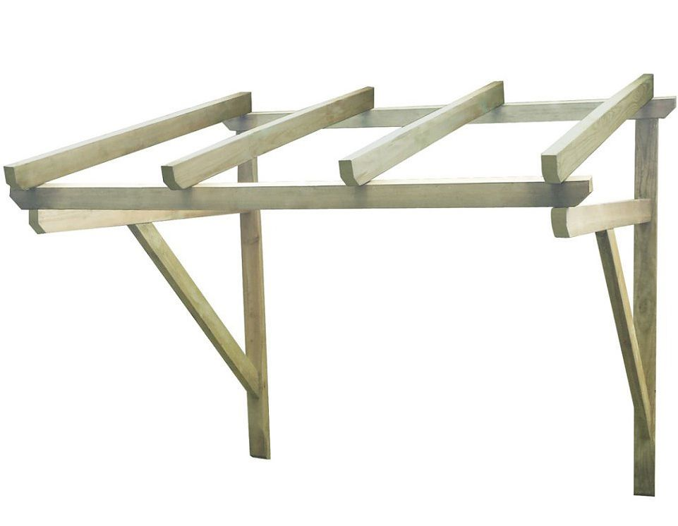 Wooden Door Canopy Roof Porch Awning Structure Outdoor Front Window Sun Cover
