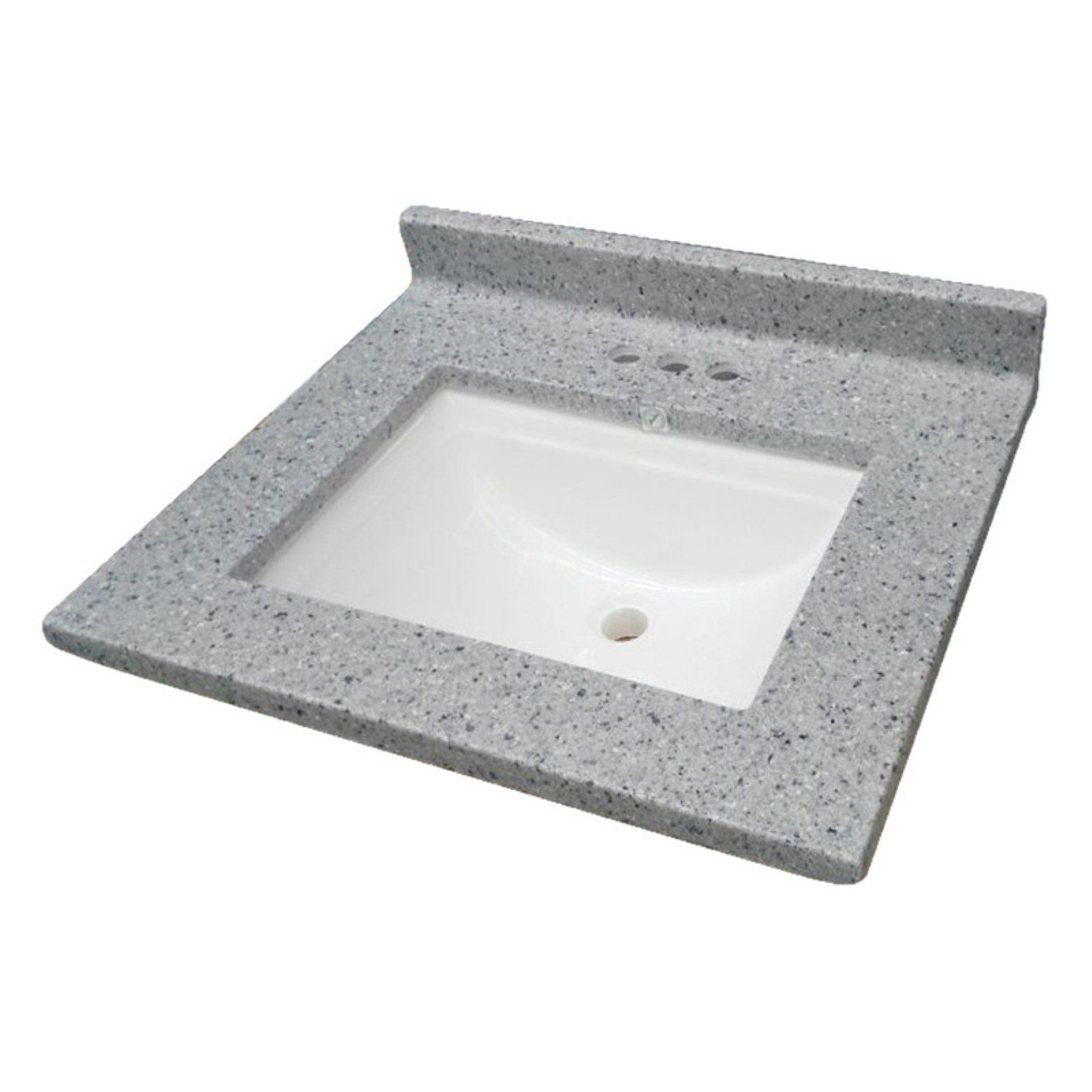 Design House Cultured Marble Single Wave Bowl Vanity Top