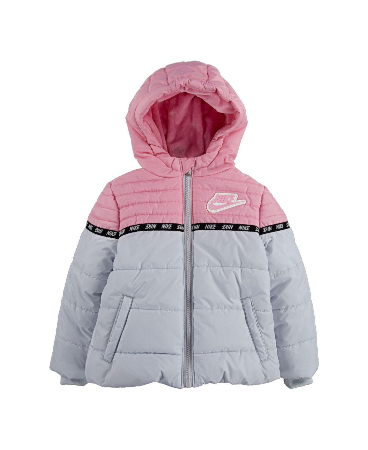Nike Baby Girls Color Block Puffer Gunpowder Jackets People Clothes Nike Coat [ 1467 x 1200 Pixel ]