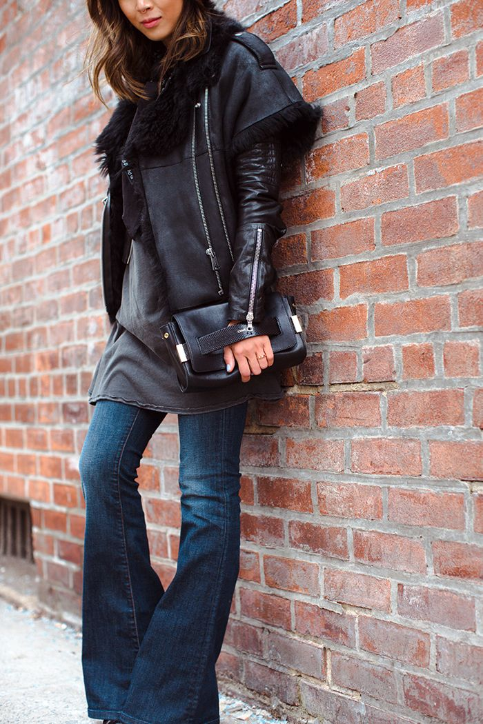 aimee_song_shearling_vest_flare_jeans