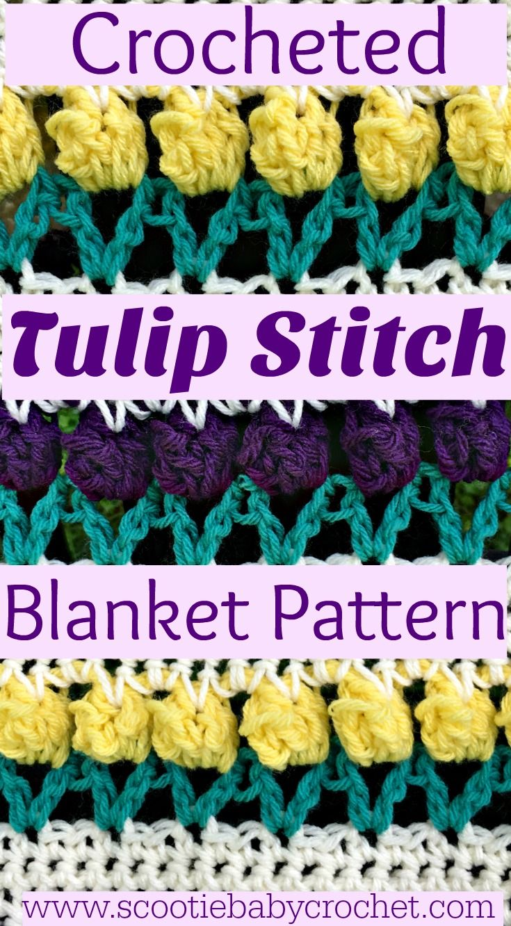 Make this beautiful Tulip Stitch Blanket! | floral crochet ...