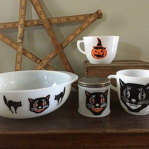 Halloween for Pyrex Friendship Decal - Decal only - bowl not included