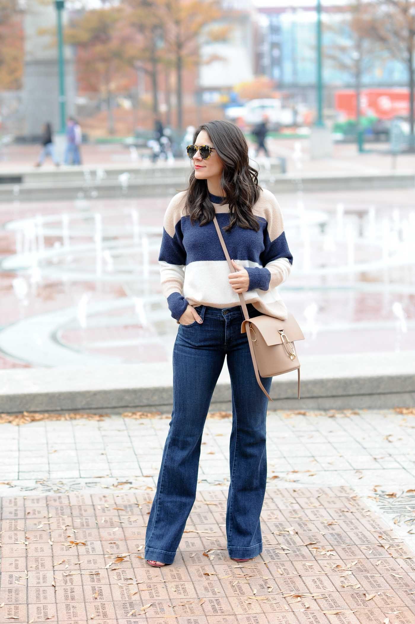 How to wide wear leg denim trousers 2019