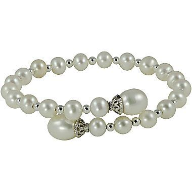 Wrap your wrist in classic elegance with this cultured freshwater pearl wrap bracelet featuring sparkle beads for extra glitz.  Metal: Sterling Silver 49100