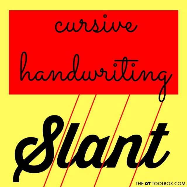 Cursive Writing Slant  Cursive Cursive Letters And Teaching Kids