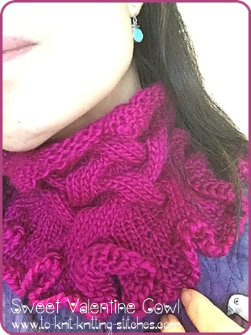 Free Cowl Pattern Sweet Valentine Cowl In Silk And Merino Wool In