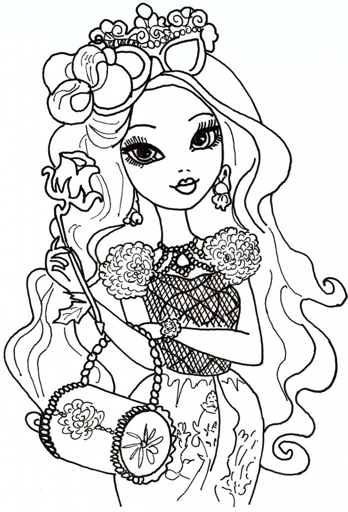 Free Printable Briar Beauty From Ever After High Coloring Pages