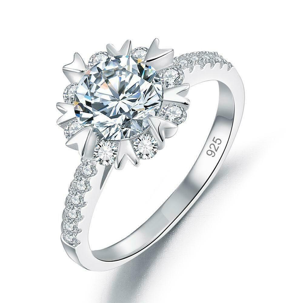 flower engagement ring gold