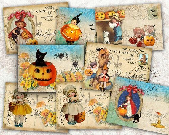 Vintage Fall Postcards