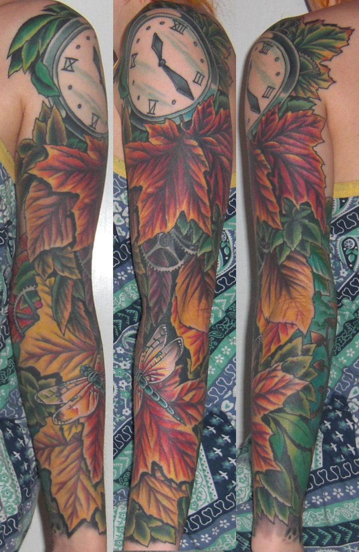 Autumn Themed Tattoos Google Search Sleeve Tattoos Fall Leaves Tattoo Autumn Tattoo