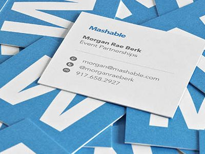 Mashable Business Cards Cool Business Cards Make Business Cards Name Card Design