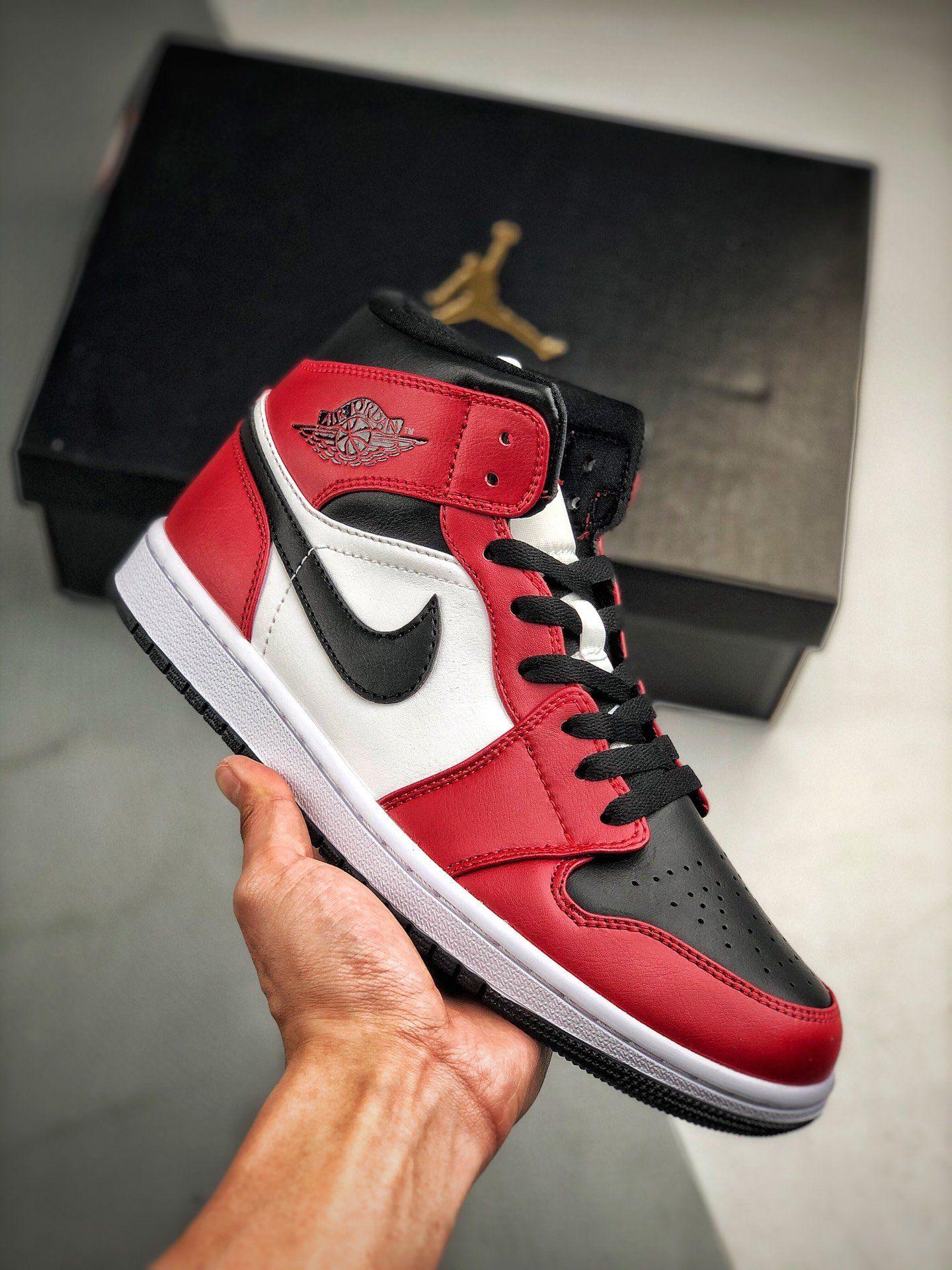 Nike Air Jordan 1 Mid 554724 069 Zapatos Nike Fondos De Nike Nike