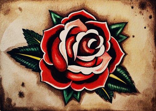 Más de 1000 imágenes sobre rosa old school en Pinterest