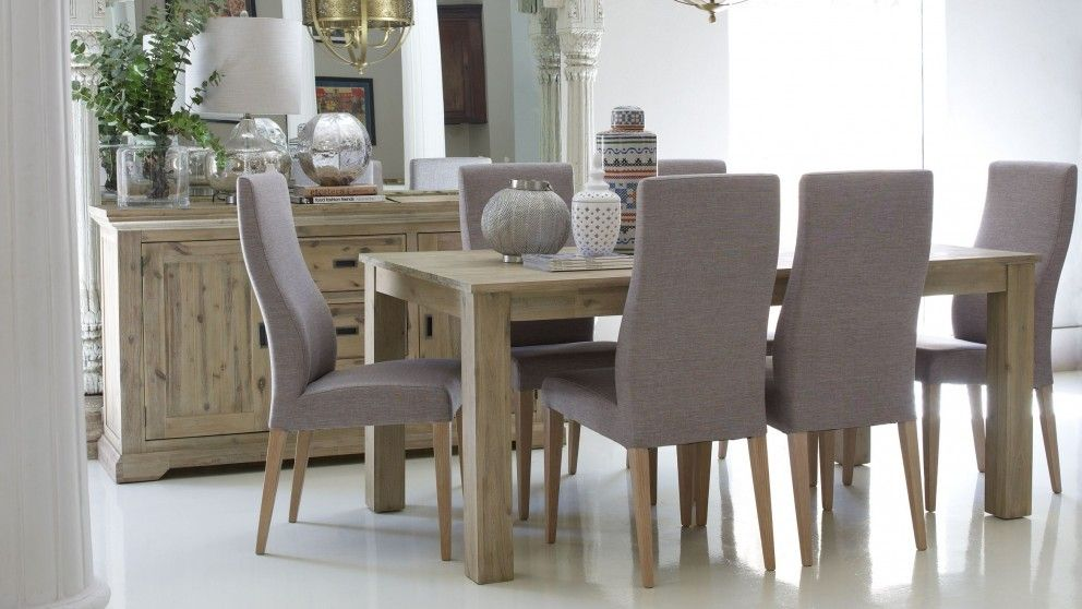 Hampton 7 piece dining setting dining furniture dining for Modern dining suites