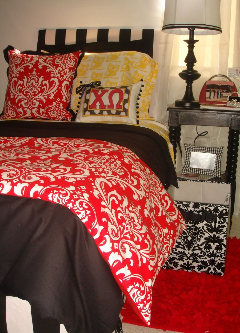 Design Your Own Dorm Room: Chi Omega Bedding! [this Website Does Sorority Bedding And