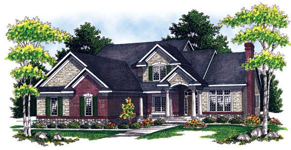 Traditional   House Plan 73212