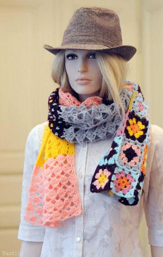 Diese wunderschöne häkeln-Schal ist Ihre perfekte Kragen, Kragen ...