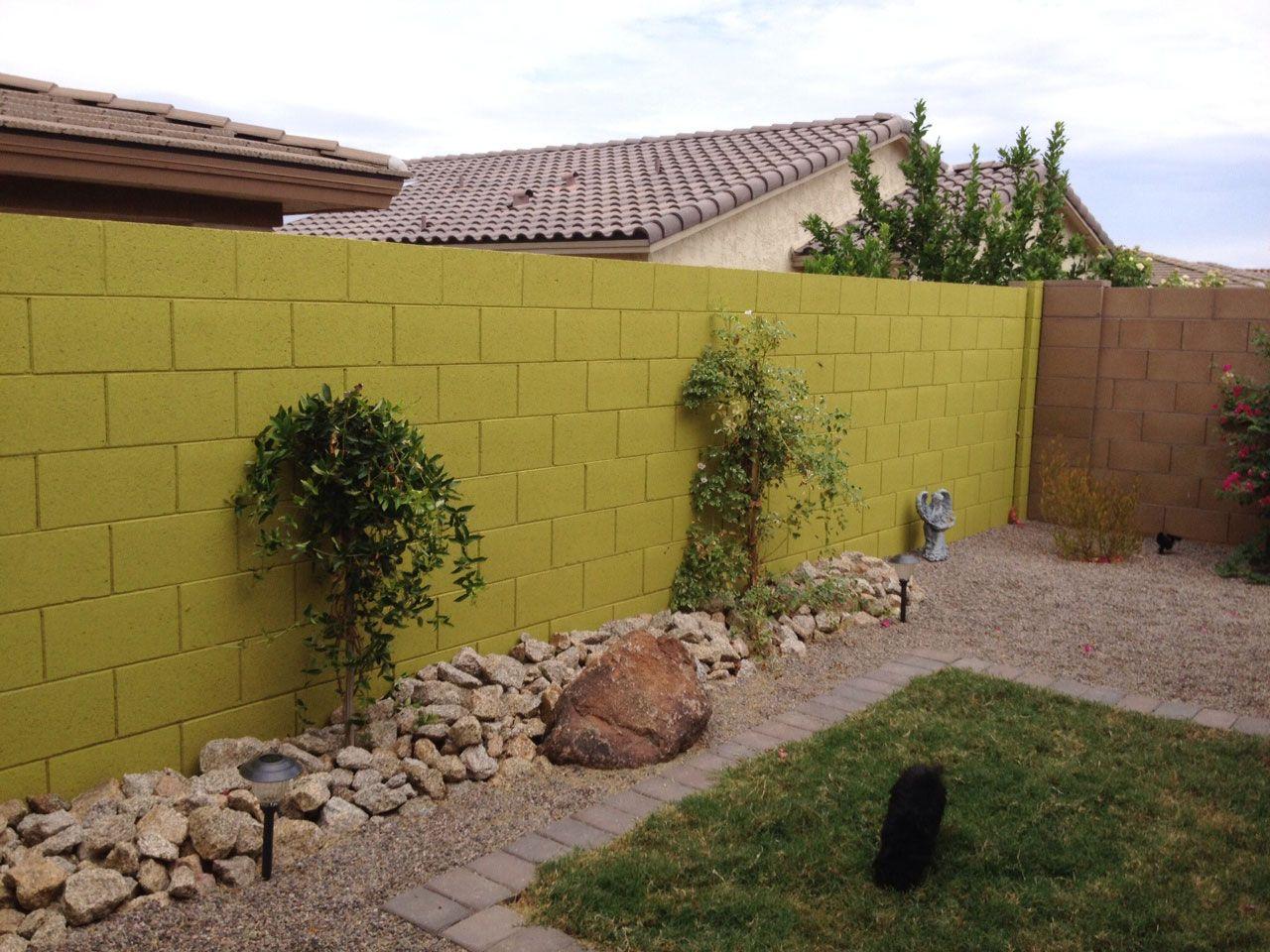 garden cinderblock wall paint - Google Search | backyard | Pinterest ...