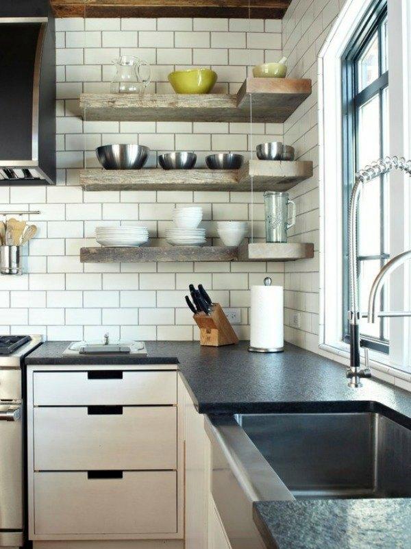 Ideas For Kitchen Corner Shelves Google Search Floating Shelves Kitchen Corner Kitchen Layout Kitchen Design